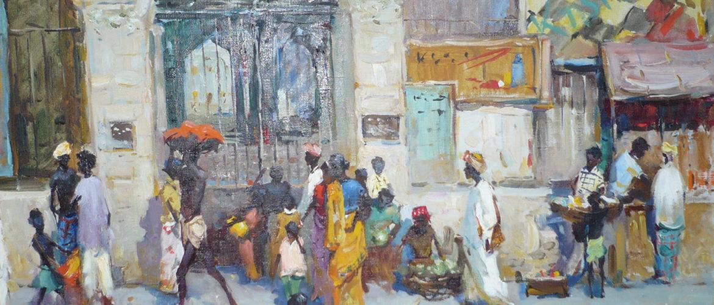 1956 Джафароф. Улица в Калькуте